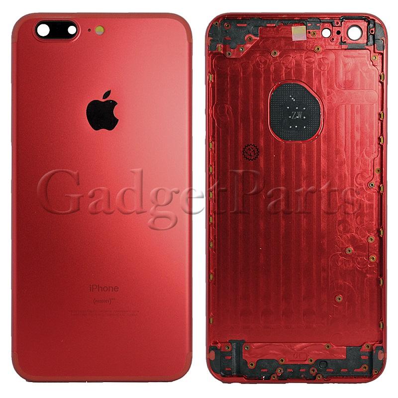 Задняя крышка iPhone 6 Plus под iPhone 7 Plus Красная (Red)