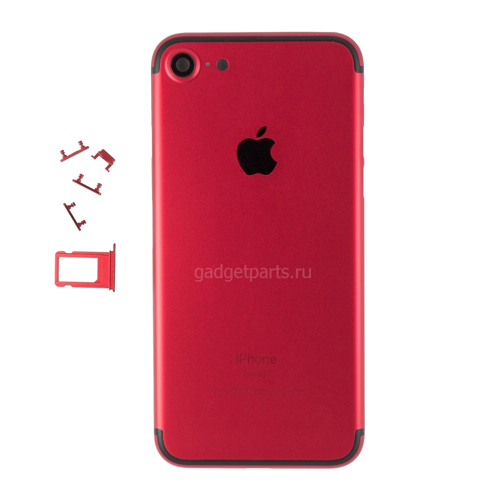 Задняя крышка iPhone 7 Красно-Черная (Red-Black)