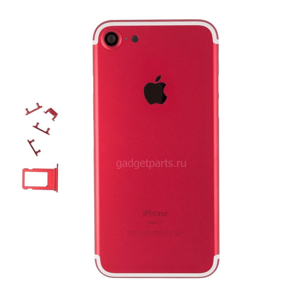 Задняя крышка iPhone 7 Красно-Белая (Red-White)
