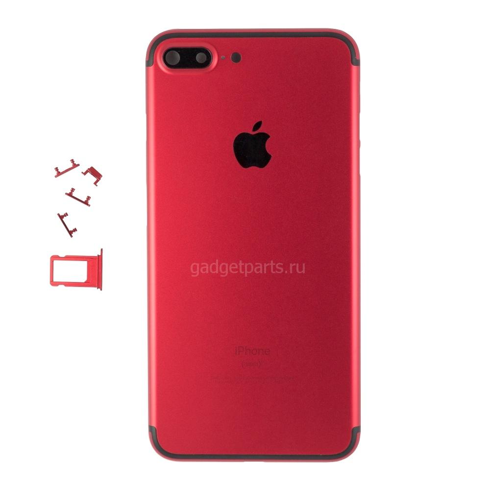 Задняя крышка iPhone 7 Plus Красно-Черная (Red-Black)