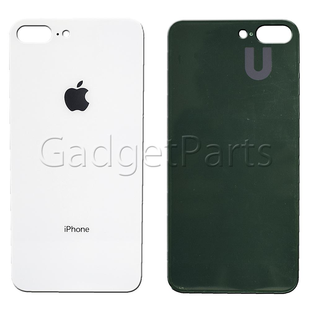 Задняя крышка iPhone 8 Plus Серебряная, Белая (Silver, White)