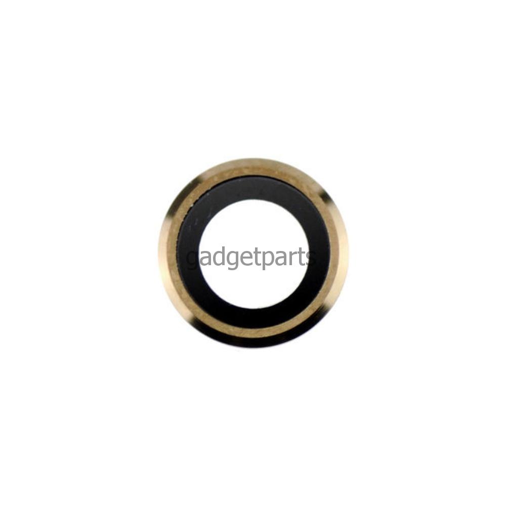 Стекло задней камеры в сборе iPhone 6 Plus, 6S Plus Золотое (Gold)