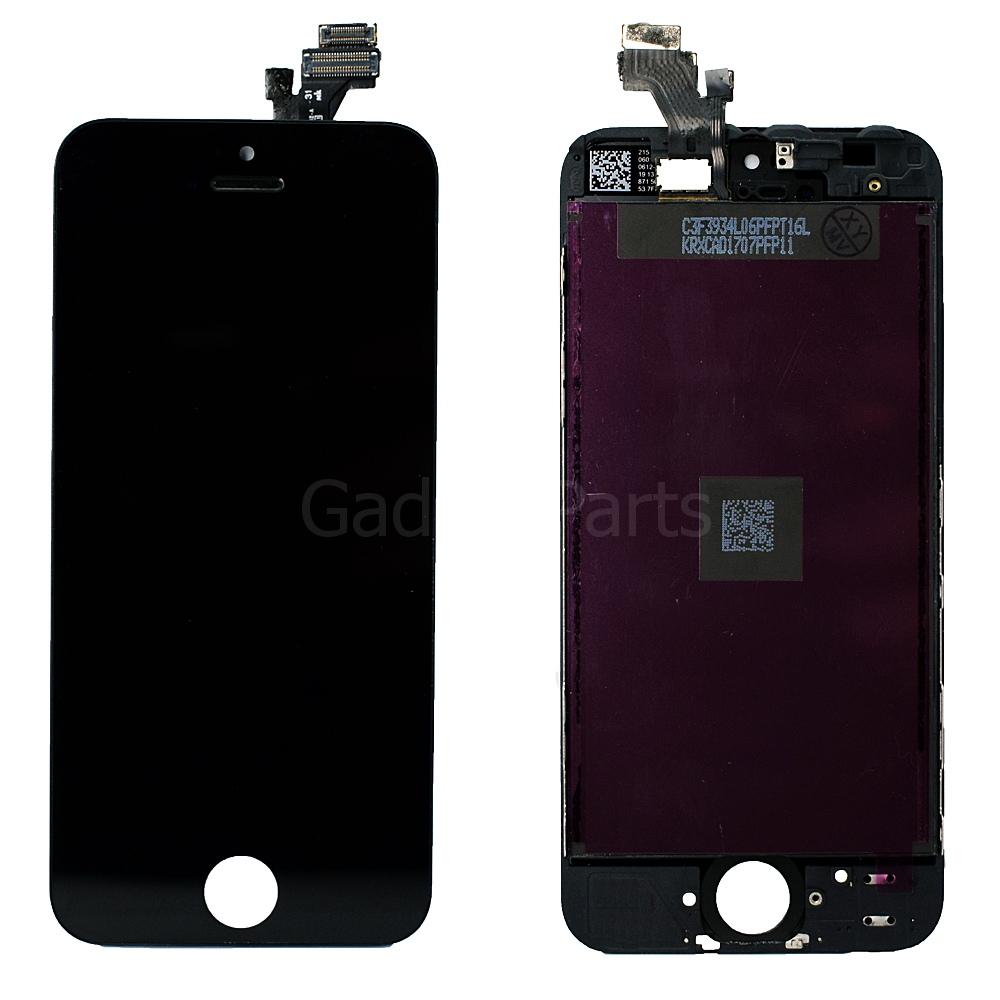Модуль (дисплей, тачскрин, рамка) iPhone 5G Черный (Black) OEM