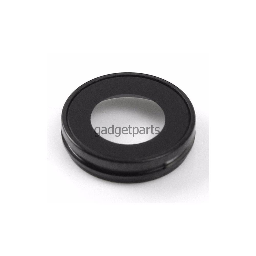 Стекло задней камеры в сборе iPhone 8 Черное (Space Gray, Black)