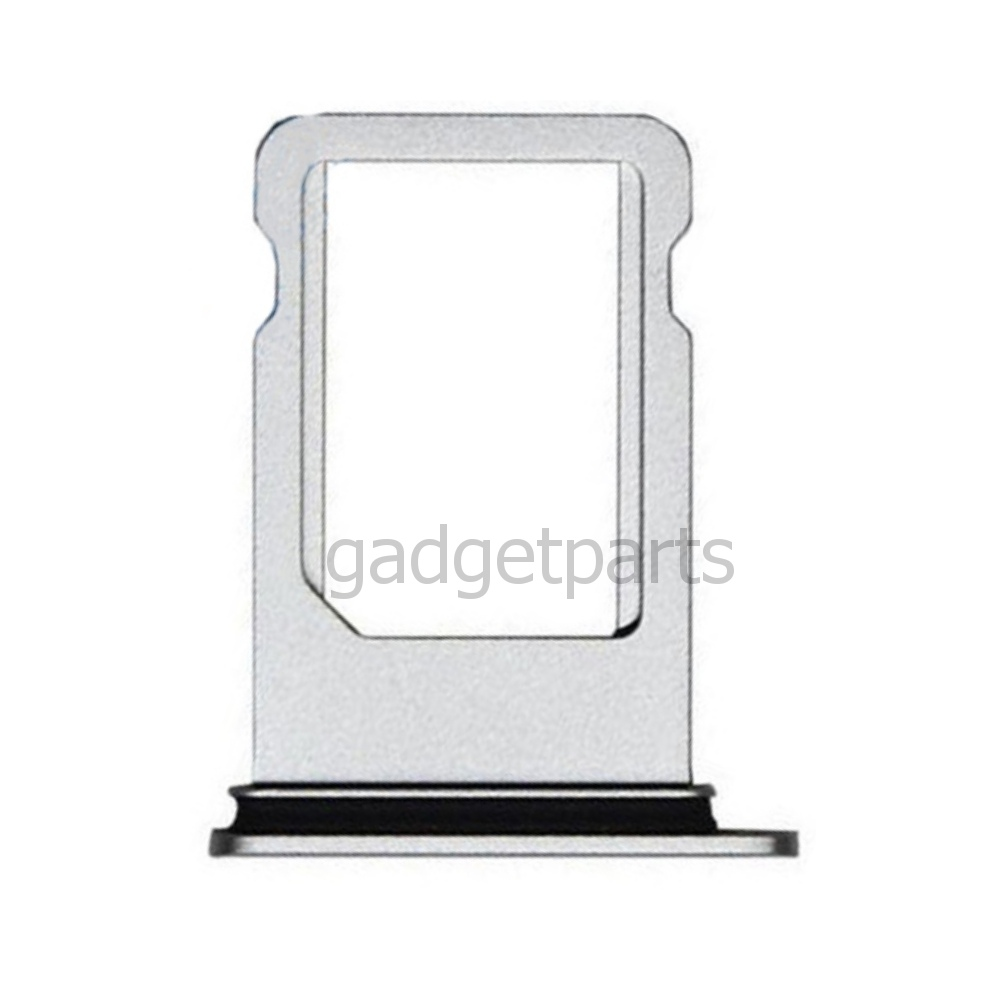 Сим-лоток iPhone 8 Plus Серебряный, Белый (Silver, White)