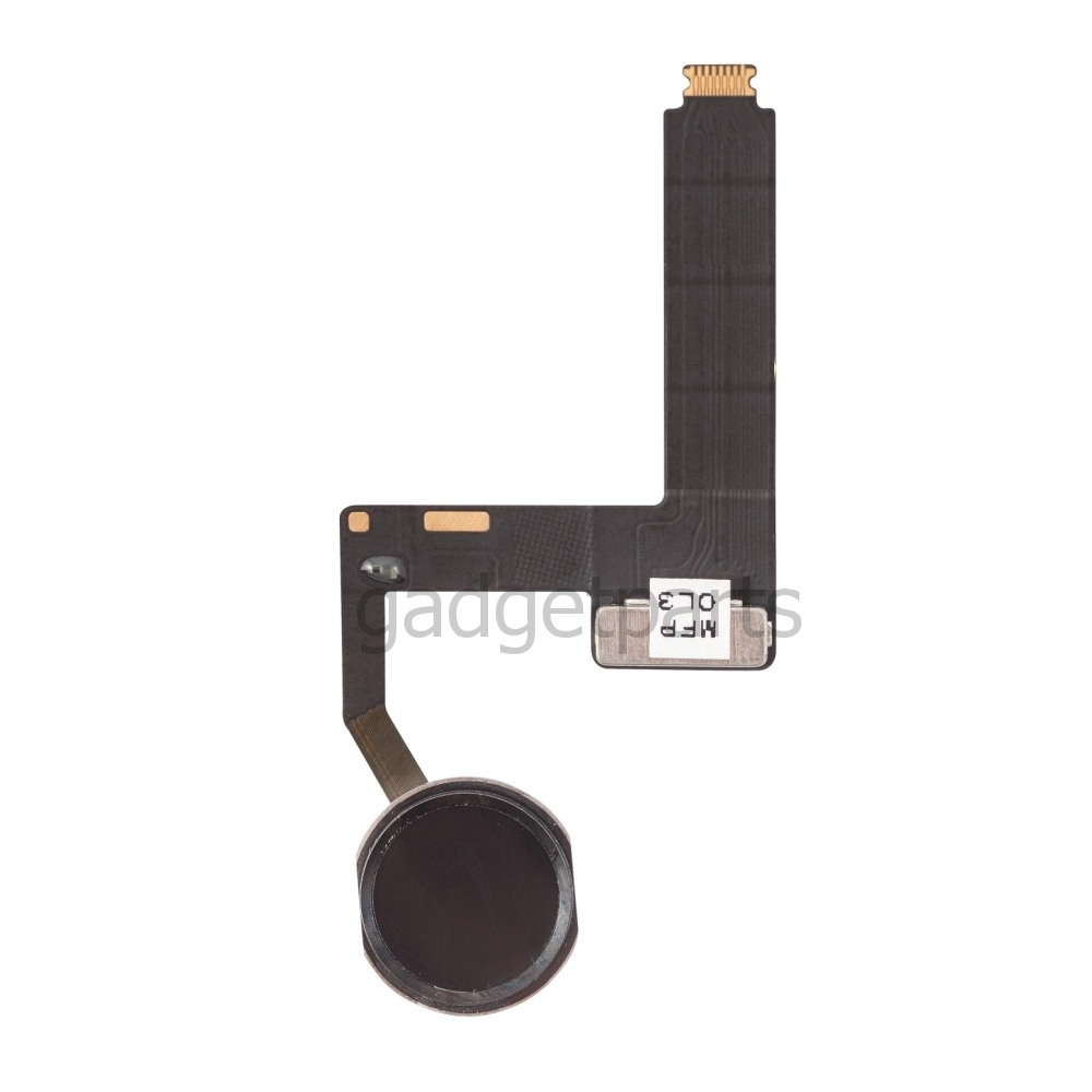 Кнопка Hоme в сборе с шлейфом iPad Pro 9,7 Черная (Black) Оригинал