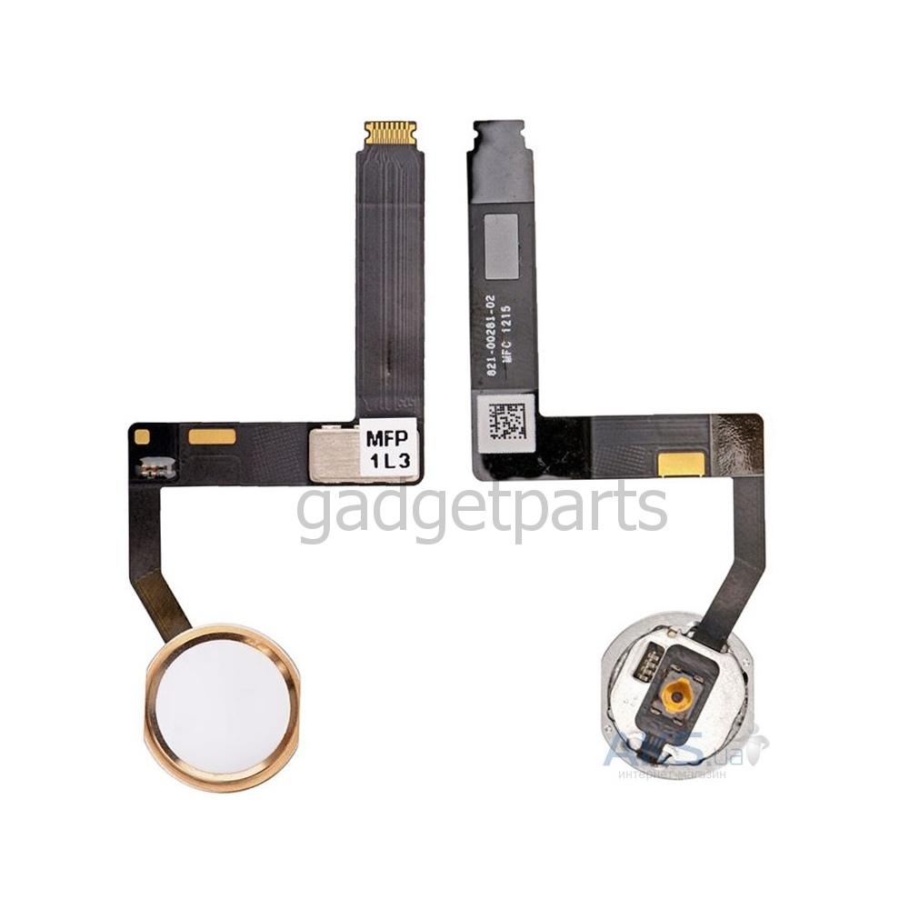 Кнопка Hоme в сборе с шлейфом iPad Pro 9,7 Золотая (Gold) Оригинал