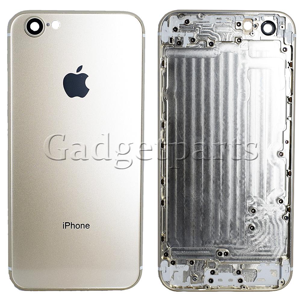 Задняя крышка iPhone 6 под iPhone 8 Золотая (Gold)