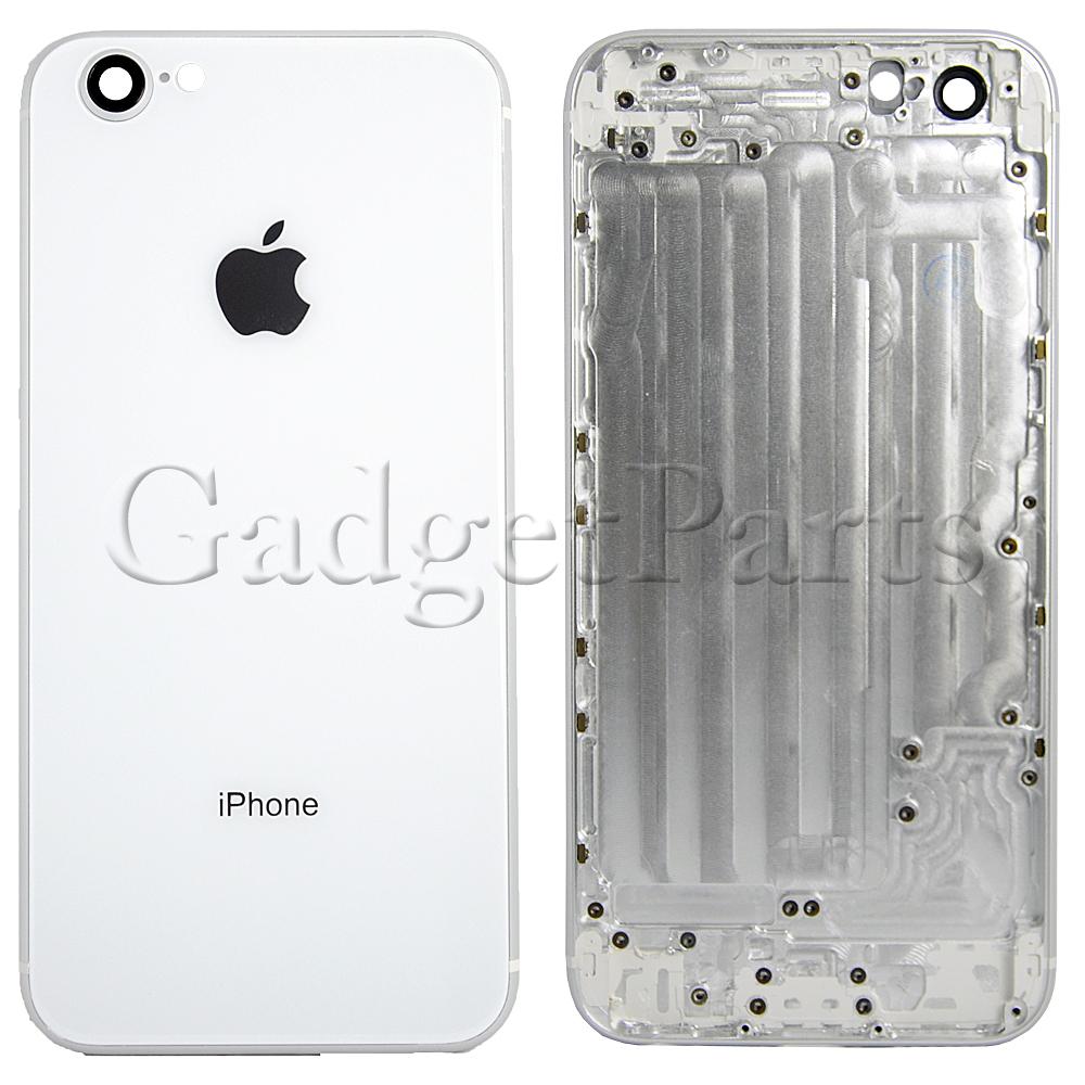 Задняя крышка iPhone 6 под iPhone 8 Белая (Silver)