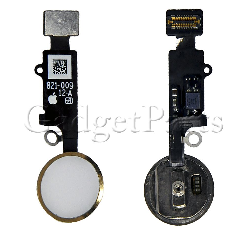 Кнопка Hоme в сборе с шлейфом iPhone 7 Золотая (Gold)