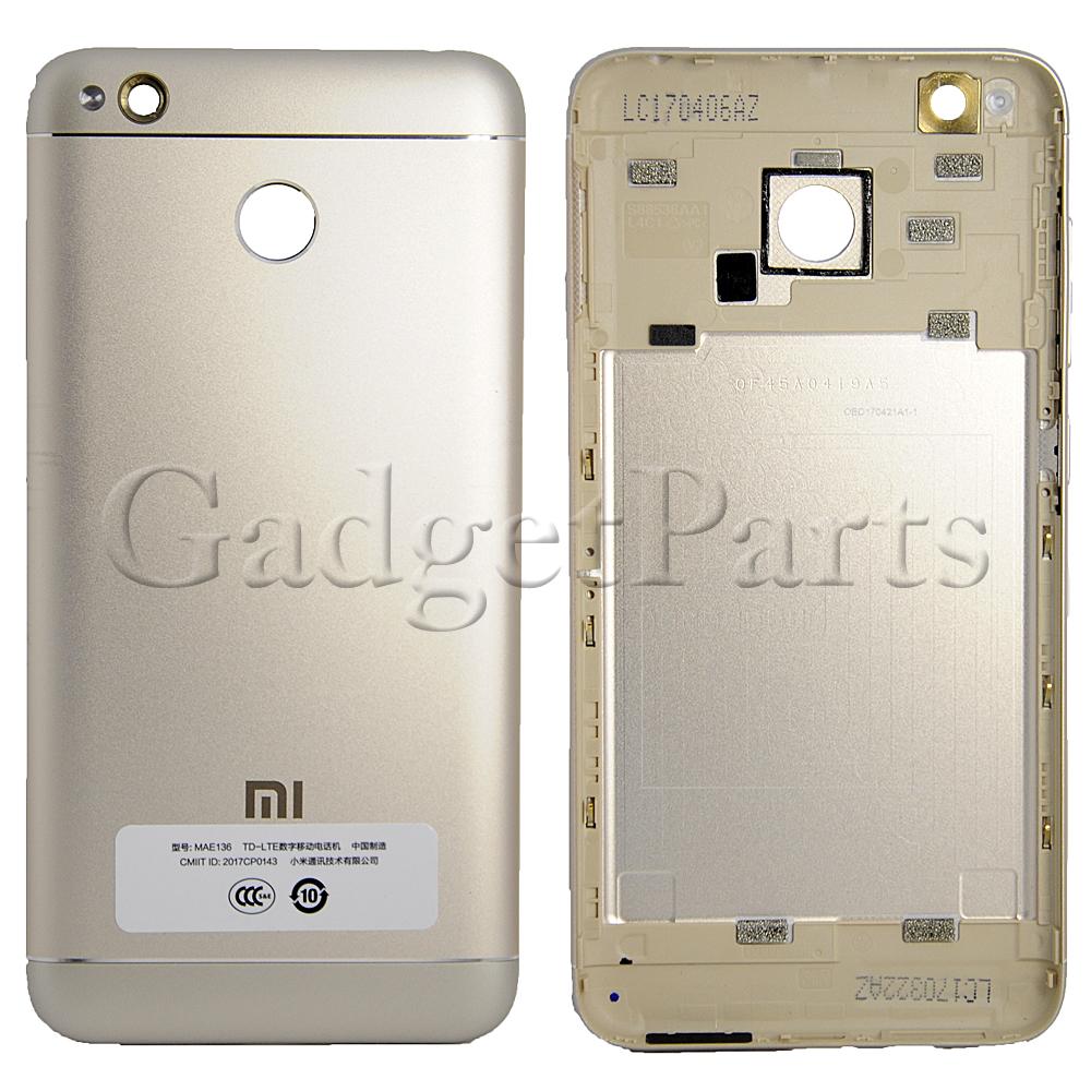 Задняя крышка Xiaomi Redmi 4X Золотая (Gold)