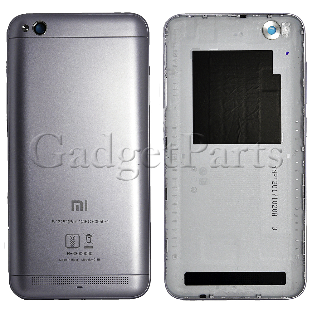 Задняя крышка Xiaomi Redmi 5A Черная (Black)