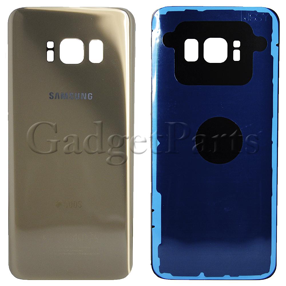 Задняя крышка Samsung Galaxy S8, G950F Золотая (Gold) Оригинал