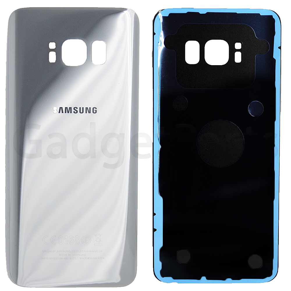 Задняя крышка Samsung Galaxy S8, G950F Серебряная (Silver) Оригинал
