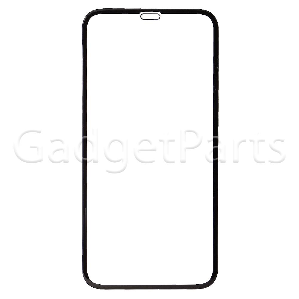 Защитное противоударное стекло 3D iPhone XR, 11 Черное (Black)