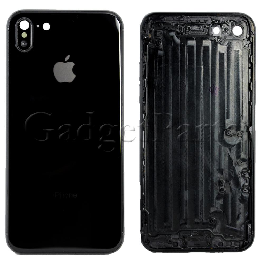 Задняя крышка iPhone 7 под iPhone X Черная (Space Gray, Black)