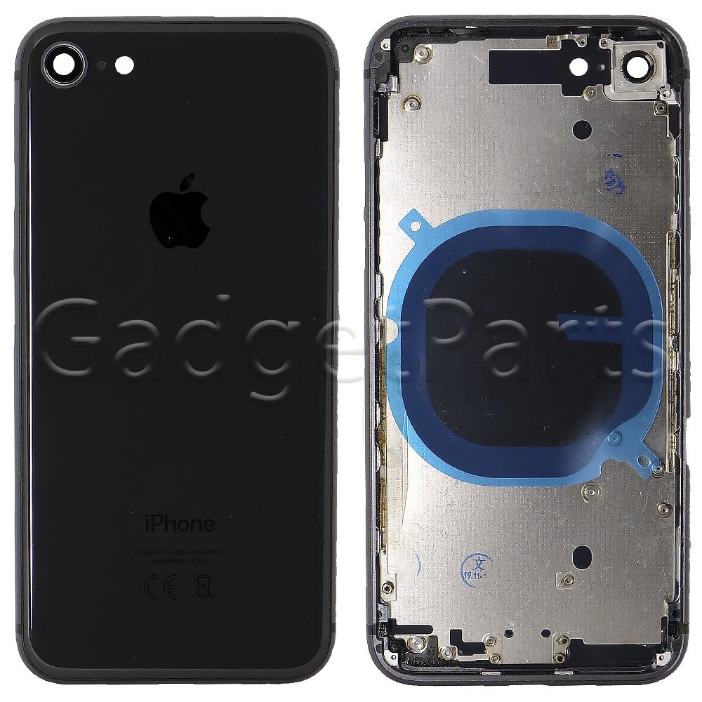 Задняя крышка в сборе iPhone 8 Черная (Space Gray, Black)