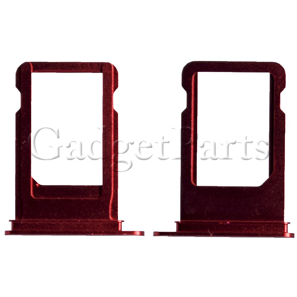 Сим-лоток iPhone 7 Красный (Red)