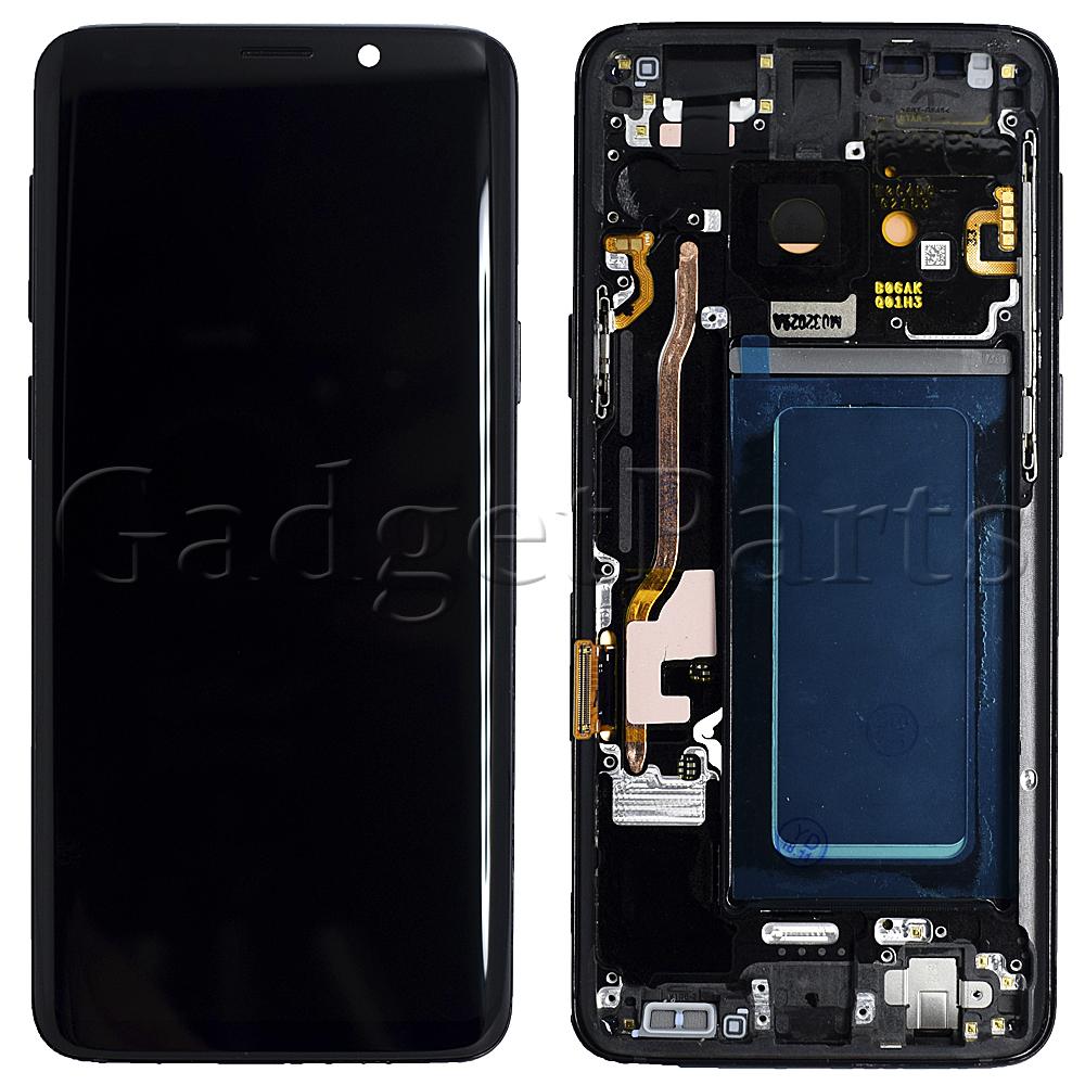 Модуль (дисплей, тачскрин, рамка) Samsung Galaxy S9, G960F Черный (Black) Оригинал
