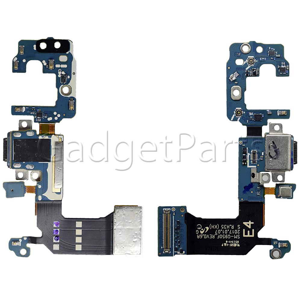 Нижний шлейф с системным разъемом Type-C, микрофоном Samsung Galaxy S8, G950F