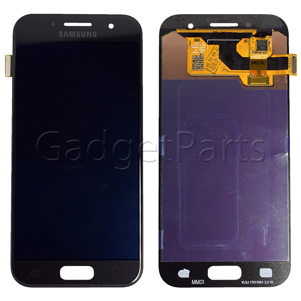 Модуль (дисплей, тачскрин) Samsung Galaxy A3 2017, A320F Черный (Black) Оригинал