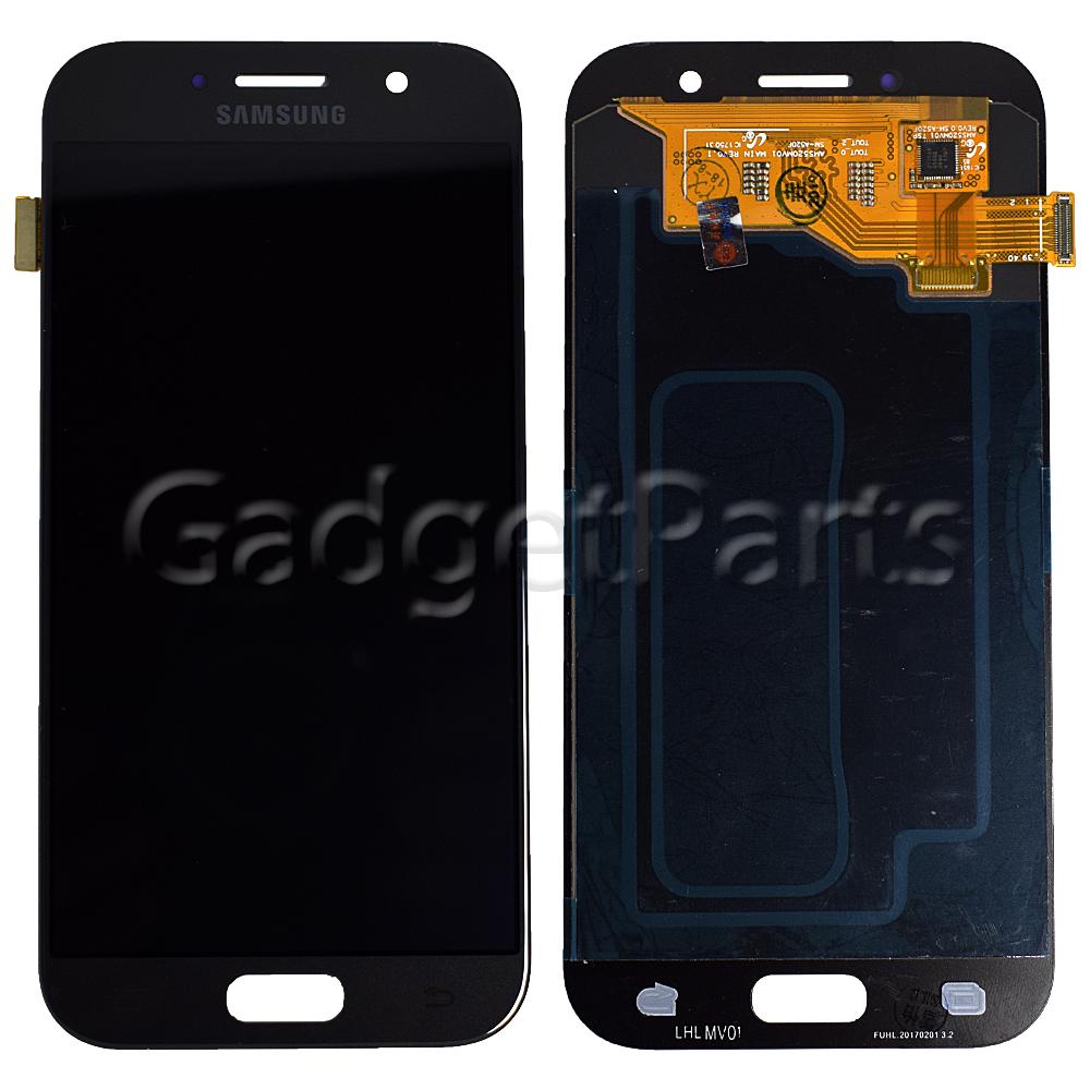Модуль (дисплей, тачскрин) Samsung Galaxy A5 2017, A520F Черный (Black) Оригинал