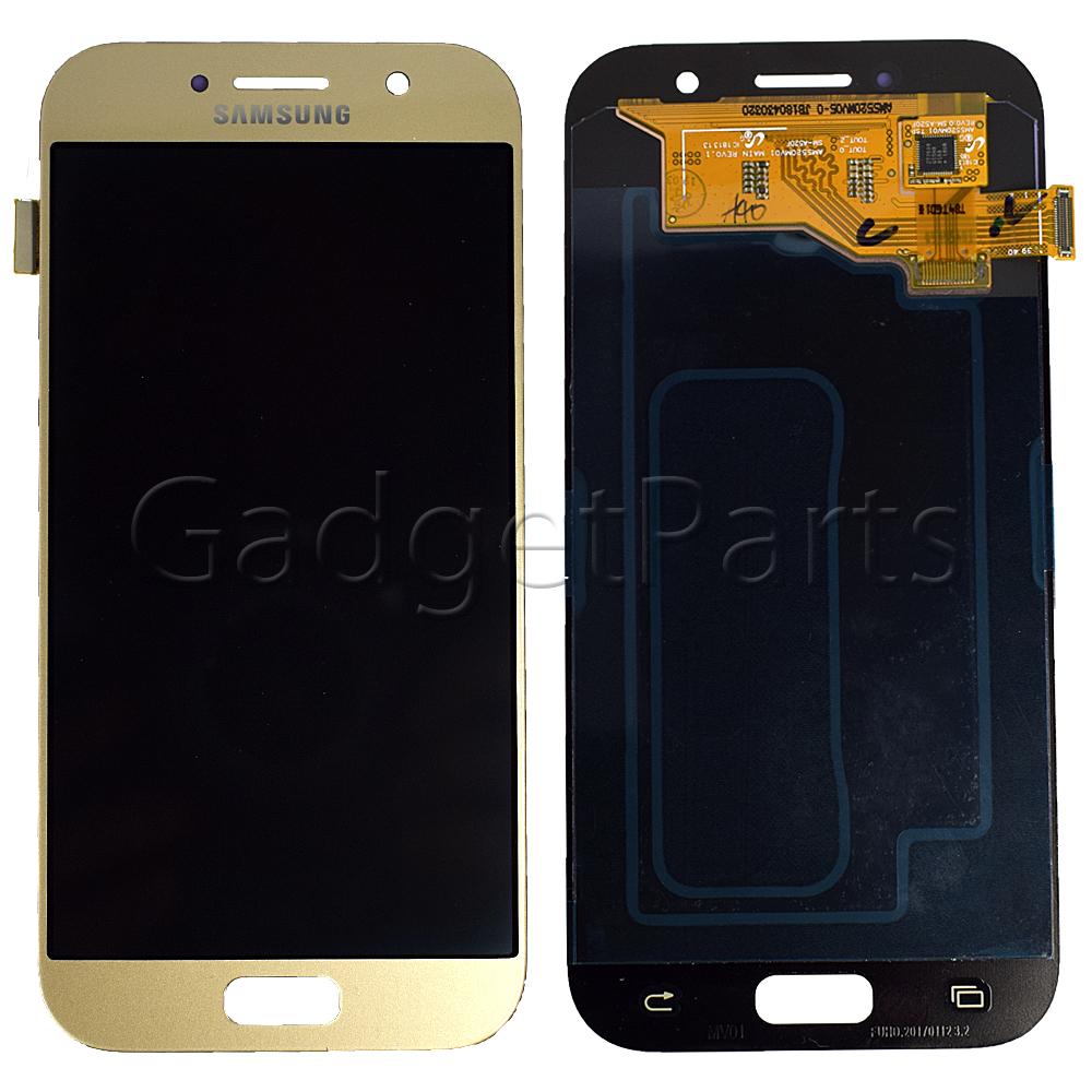 Модуль (дисплей, тачскрин) Samsung Galaxy A5 2017, A520F Золотой (Gold) Оригинал