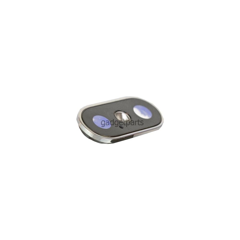Стекло задней камеры в сборе iPhone X Белое (Silver, White)