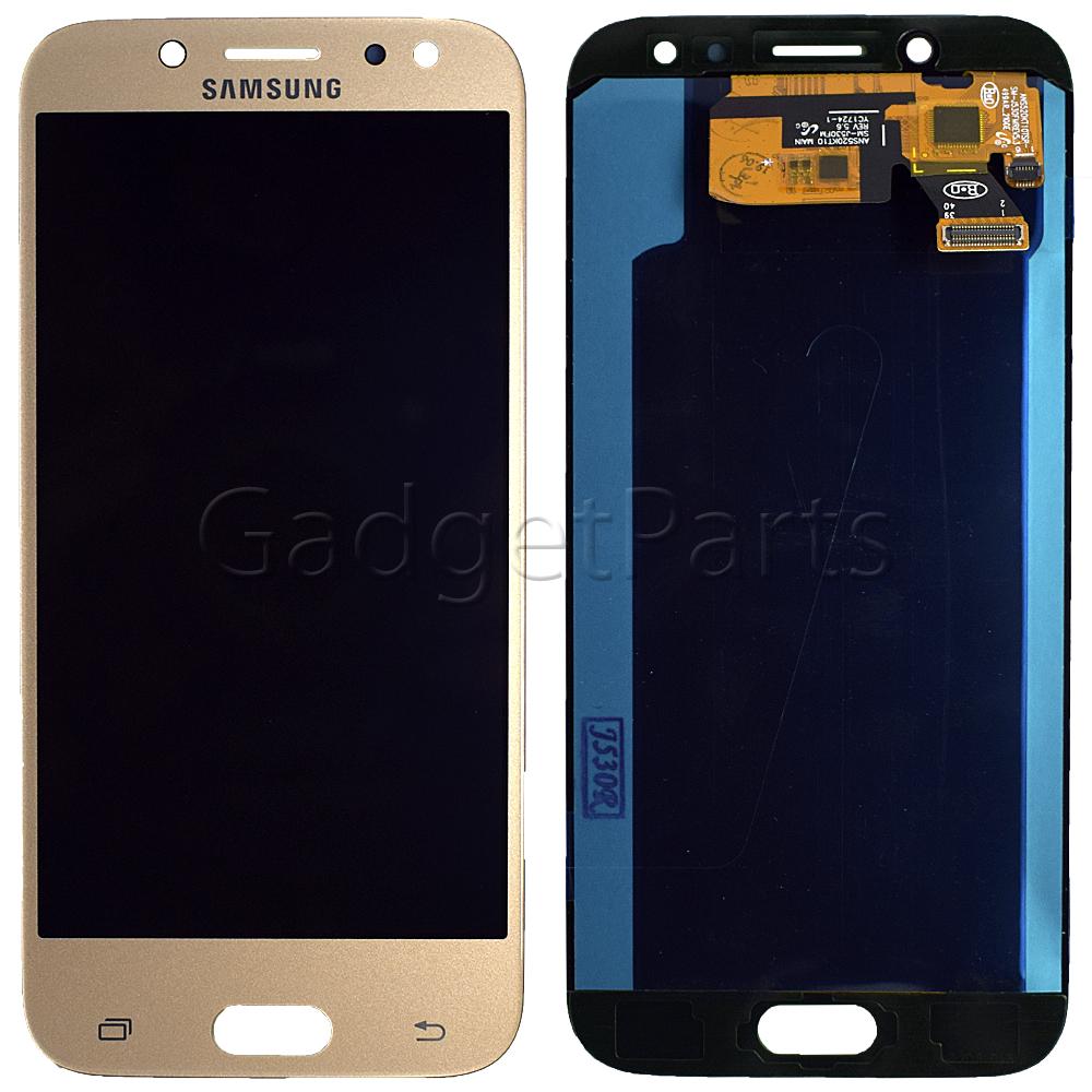 Модуль (дисплей, тачскрин) Samsung Galaxy J5 2017, j530F Золотой (Gold) Oled
