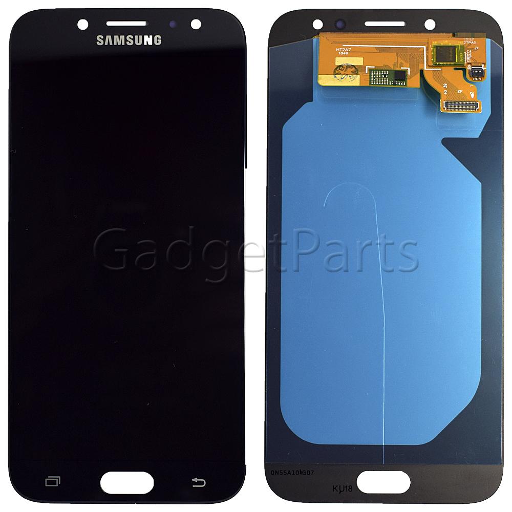 Модуль (дисплей, тачскрин) Samsung Galaxy J7 2017, j730F Черный (Black) Oled