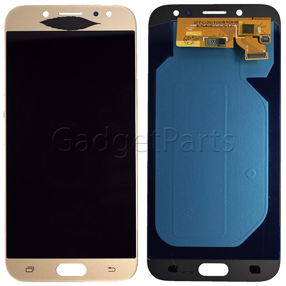 Модуль (дисплей, тачскрин) Samsung Galaxy J7 2017, j730F Золотой (Gold) Oled